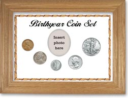 1940 Birth Year Coin Gift Set with a white background and wheat frame THUMBNAIL