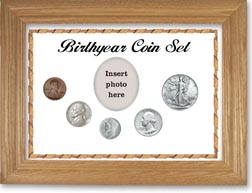1941 Birth Year Coin Gift Set with a white background and wheat frame THUMBNAIL