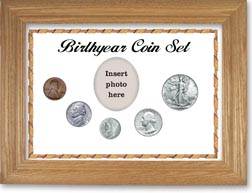 1942 Birth Year Coin Gift Set with a white background and wheat frame THUMBNAIL