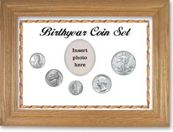 1943 Birth Year Coin Gift Set with a white background and wheat frame THUMBNAIL