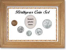 1944 Birth Year Coin Gift Set with a white background and wheat frame THUMBNAIL