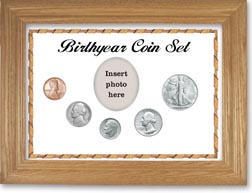 1947 Birth Year Coin Gift Set with a white background and wheat frame THUMBNAIL