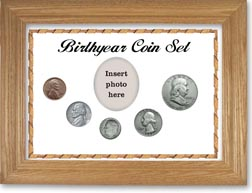 1953 Birth Year Coin Gift Set with a white background and wheat frame THUMBNAIL