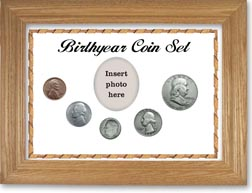 1954 Birth Year Coin Gift Set with a white background and wheat frame THUMBNAIL