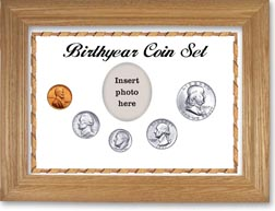 1957 Birth Year Coin Gift Set with a white background and wheat frame THUMBNAIL