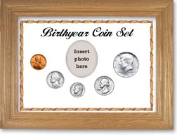 1965 Birth Year Coin Gift Set with a white background and wheat frame THUMBNAIL