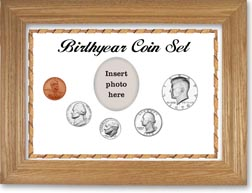 1970 Birth Year Coin Gift Set with a white background and wheat frame THUMBNAIL