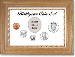1974 Birth Year Coin Gift Set with a white background and wheat frame THUMBNAIL