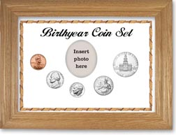 1975 Birth Year Coin Gift Set with a white background and wheat frame THUMBNAIL