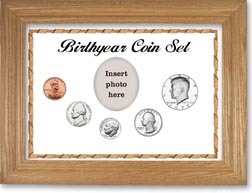 1977 Birth Year Coin Gift Set with a white background and wheat frame THUMBNAIL