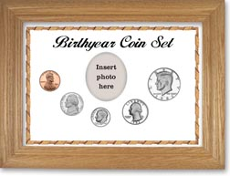 1982 Birth Year Coin Gift Set with a white background and wheat frame THUMBNAIL