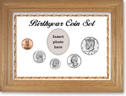 1983 Birth Year Coin Gift Set with a white background and wheat frame THUMBNAIL