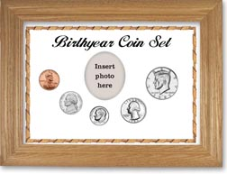 1985 Birth Year Coin Gift Set with a white background and wheat frame THUMBNAIL