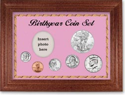 Birth Year Deluxe Gift Set with a pink background and cherry frame THUMBNAIL