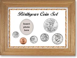 Birth Year Deluxe Gift Set with a white background and wheat frame THUMBNAIL