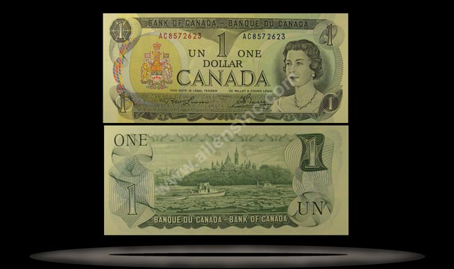 Canada Banknote, 1 Dollar, 1973, P#85a