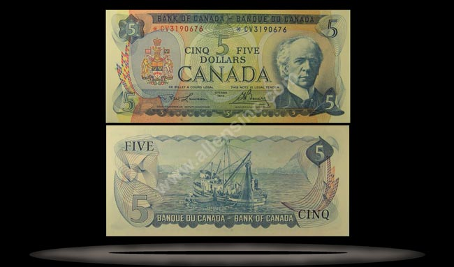 Canada Banknote, 5 Dollars, 1972, P#87a