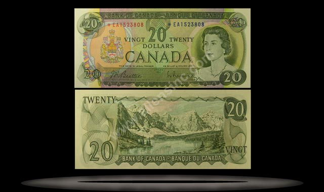Canada Banknote, 20 Dollars, 1969, P#89a
