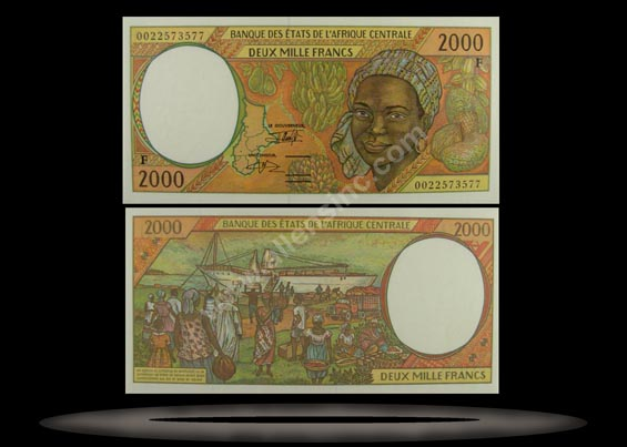 Central African Republic, Central African States Banknote, 2000 Francs, 2000, P#303Fg
