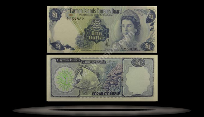 Cayman Islands Banknote, 1 Dollar, L.1971 (1972), P#1r