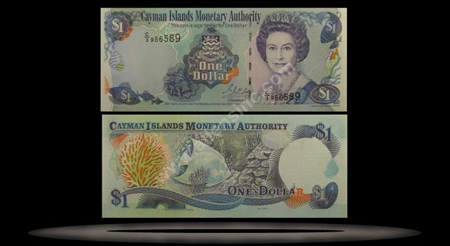 Cayman Islands Banknote, 1 Dollar, 2001, P#26b