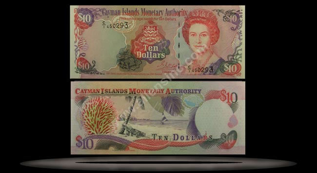 Cayman Islands Banknote, 10 Dollars, 2001, P#28a