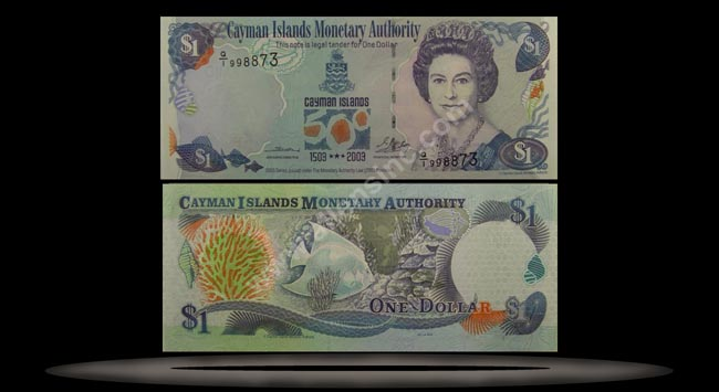 Cayman Islands Banknote, 1 Dollar, 2003, P#30a