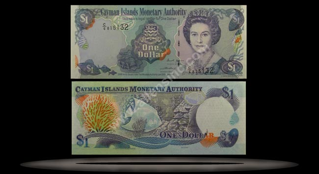 Cayman Islands Banknote, 1 Dollar, 2006, P#33c