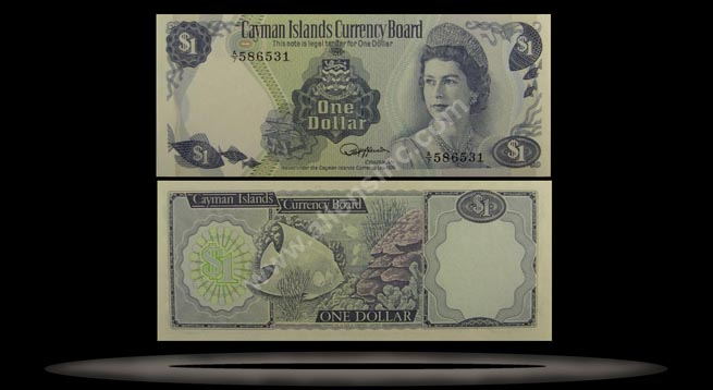 Cayman Islands Banknote, 1 Dollar, L.1974 (1985), P#5d
