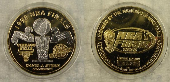 1998 NBA Finals - gold plated' Art Bar. MAIN