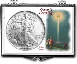 1998 Christmas Star American Silver Eagle Gift Display THUMBNAIL