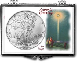 1999 Christmas Star American Silver Eagle Gift Display THUMBNAIL