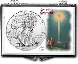 2005 Christmas Star American Silver Eagle Gift Display THUMBNAIL