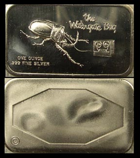 Watergate Bug' Art Bar by Colonial Mint.