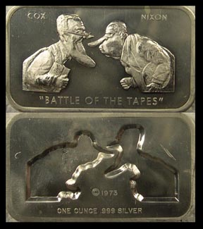 Nixon-Cox - Battle of the Tapes' Art Bar by Colonial Mint.