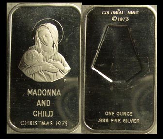 Madonna And Child' Art Bar by Colonial Mint. MAIN