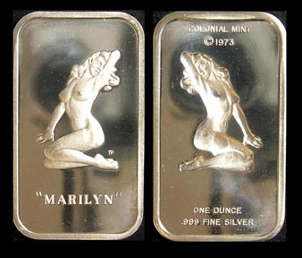 Marilyn Monroe' Art Bar by Colonial Mint.