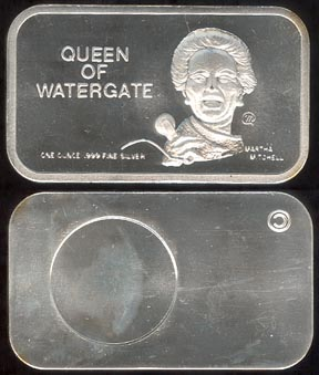 Martha Mitchell, Queen of Watergate' Art Bar by Colonial Mint. MAIN
