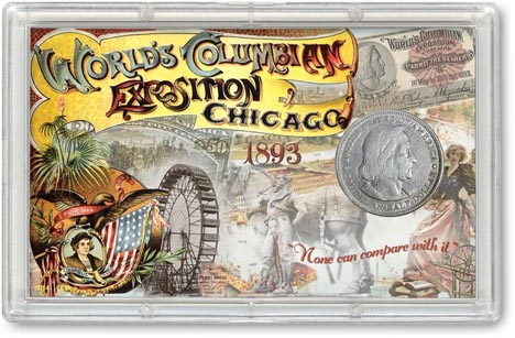 1893 World's Columbian Exposition Commemorative Half Dollar Display LARGE