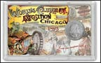1893 World's Columbian Exposition Commemorative Half Dollar Display THUMBNAIL