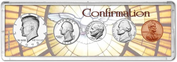 1972 Confirmation Coin Gift Set LARGE