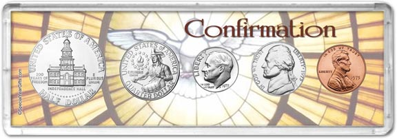 1975 Confirmation Coin Gift Set LARGE