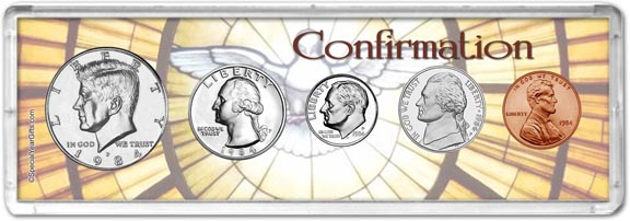 1984 Confirmation Coin Gift Set LARGE
