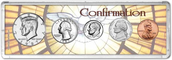 1987 Confirmation Coin Gift Set LARGE