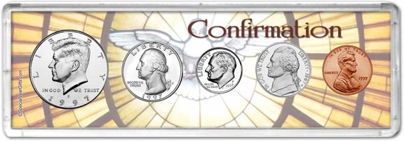 1997 Confirmation Coin Gift Set LARGE