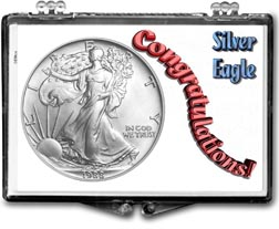 1988 Congratulations! American Silver Eagle Gift Display THUMBNAIL