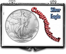 1990 Congratulations! American Silver Eagle Gift Display THUMBNAIL