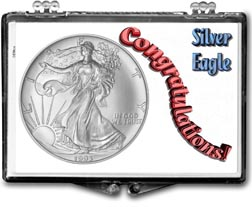 1993 Congratulations! American Silver Eagle Gift Display THUMBNAIL