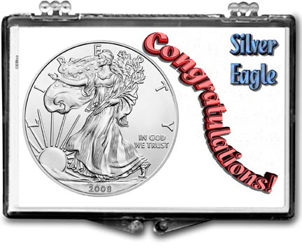 2008 Congratulations! American Silver Eagle Gift Display LARGE