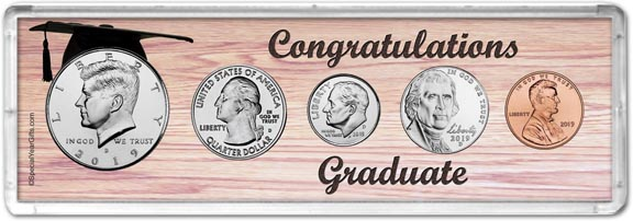 2019 Congratulations Graduate Coin Gift Set LARGE